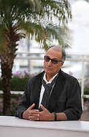 Director and scriptwriter Abbas Kiarostami, at the Like Someone In Love film photocall at the 65th Cannes Film Festival France. Monday 21st May 2012 in Cannes Film Festival, France.