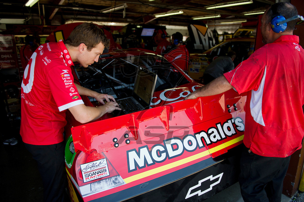 Brooklyn, MI - JUN 14, 2012:  Jamie McMurray (1) prepares for the second test session for the Quicken Loans 400 race at the Michigan International Speedway in Brooklyn, MI.