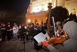 28.01.2012, Graz, AUT, Opernredoute, im Bild Flashmob Demonstration vor der Oper, EXPA Pictures © 2012, PhotoCredit: EXPA/ Erwin Scheriau