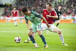 September 3, 2017 - Budapest, Hungary - Cedric of Portugal and Mihaly Korhut of Hungary during the FIFA World Cup 2018 Qualifying Round match between Hungary and Portugal at Groupama Arena in Budapest, Hungary on September 3, 2017  (Credit Image: © Andrew Surma/NurPhoto via ZUMA Press)
