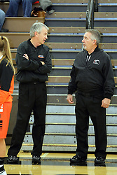 20 November 2015: Tim Griffin and Rich Caccatori. Normal Community Lady Ironmen v Bloomington Central Catholic Lady Saints at Girls Intercity in the gym at Normal Community West in Normal IL