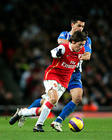 Photo: Tom Dulat/Sportsbeat Images.<br /> <br /> Arsenal v Wigan Athletic. The FA Barclays Premiership. 24/11/2007.<br /> <br /> Paul Scharner of Wigan Athletic and Tomas Rosicky of Arsenal with the ball.