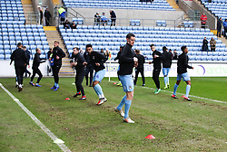 Coventry City players warm up ahead of their Sky Bet League One match against AFC Wimbledon at the Ricoh Arena, Coventry