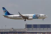 SU-GEA Egyptair Boeing 737 Next Gen at Milan at Malpensa (MXP / LIMC), Milan, Italy