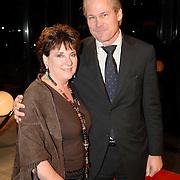 NLD/Hilversum/20061201 - Opening Nederlands Instituut voor Beeld en Geluid, Catherine Keyl en partner Maurits Regenboog