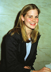 MISS ALICE FERGUSON half sister of Sarah, Duchess of York, at a fashion show in London on 12th April 1999.MPY 14