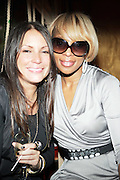 l to r: Angie Martinez and Mary J. Bldge at The Dream's Black Tie Album Release Party held at The Hiro Ballroom on March 11, 2008 in New York City.  ..The Dream- Platinum-selling, award-winning, R&B Recording Artist, Writer and Producer, whose sophomore album, Love vs. Money, out NOW!