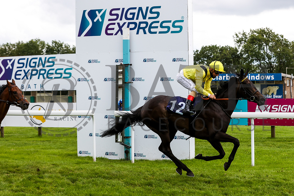Rideson ridden by Andrea Atzeni (T: Roger Varian) wins the 14:05 Follow At the Races On Twitter Maiden Stakes - Rogan/JMP - 14/07/2020 - HORSE RACING - Bath Racecourse - Bath, England.