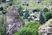 The fortress of Halidzor is located along a hill overlooking the Voghji River to the north, near the village of Kapan in the Syunik Province of Armenia. Halidzor Fortress is situated at an altitude of 1051 meters.