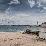 Social distancing in practice at Bather's Beach in Fremantle. The once popular beach lies deserted because of the Corona Virus
