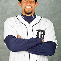 February 28, 2012; Lakeland, FL, USA; Detroit Tigers third baseman Nick Castellanos (79) poses for photo day in the rec room at the Detroit Tigers Headquarters.  Mandatory Credit: Derick E. Hingle-US PRESSWIRE
