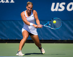August 30, 2018 - Dominika Cibulkova of Slovakia in action during her second round match at the 2018 US Open Grand Slam tennis tournament. New York, USA. August 30th 2018. (Credit Image: © AFP7 via ZUMA Wire)
