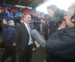 Chairman Derek Sim at the end. <br /> Montrose 3 v 1 Brora Rangers, Scottish League Two play-off second leg, today at Links Park, Montrose.