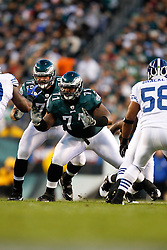 Philadelphia Eagles offensive tackle Jason Peters #71 during the NFL Game between the Indianapolis Colts and the Philadelphia Eagles. The Eagles won 26-24 at Lincoln Financial Field in Philadelphia, Pennsylvania on Sunday November 7th 2010. (Photo By Brian Garfinkel)