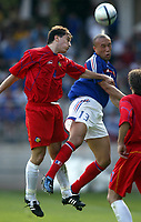Fotball<br /> Treningskamp<br /> Frankrike v Andorra<br /> 28. mai 2004<br /> Foto: Digitalsport<br /> NORWAY ONLY<br /> MIKAEL SILVESTRE (FRA) / ANTONI SIVERA (AND)