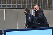 Manchester City manager Josep Guardiola arrives at the stadium during the Premier League match between Manchester City and Burnley at the Etihad Stadium, Manchester, England on 28 November 2020.