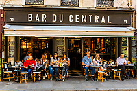 Bar du Central (sidewalk cafe), Rue St. Dominique, Paris, France.