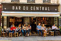 Bar du Central (sidewalk cafe), Rue St. Dominique, Paris, France.