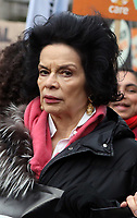 Bianca Jagger  at March4Women 2020 rally at Southbank Centre on March 08, 2020 in London, England. The event is to mark International Women's Day photo by Roger Alarcon