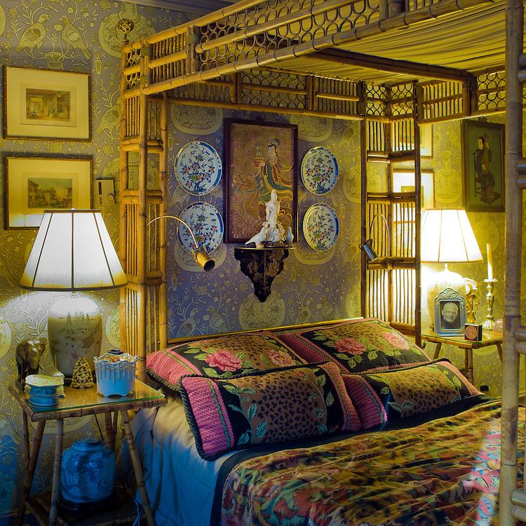 Bedroom.  Private home of retired set designer.