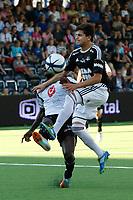 Fotball , 12. AUG 2012, Tippeligaen Eliteserien , Sogndal - Rosenborg<br /> Tarik Elyounoussi, Rosenborg. Stéphane Diarra Badji, Sogndal<br /> Foto: Christian Blom , Digitalsport