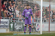 Cambridge United Goalkeeper Will Norris  during the Sky Bet League 2 match between Northampton Town and Cambridge United at Sixfields Stadium, Northampton, England on 12 March 2016. Photo by Dennis Goodwin.