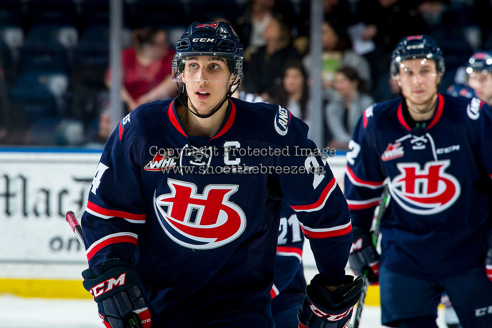 KELOWNA, BC - MARCH 7: Dylan Cozens #24 of the Lethbridge Hurricanes skates to the bench to celebrate a third period goal against the Kelowna Rockets at Prospera Place on March 7, 2020 in Kelowna, Canada. Cozens was selected in the 2019 NHL entry draft by the Buffalo Sabres. (Photo by Marissa Baecker/Shoot the Breeze)