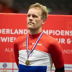 28-12-2019: Wielrennen: NK Baan: Alkmaar <br />Roy Eeftink pakt de titel op de puntenkoers