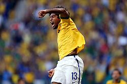 Marcelo comemora gol na partida entre Brasil e Itália válida pela terceira rodada da Copa das Confederações 2013, no estádio Arena Fonte Nova, em Salvador-BA. FOTO: Jefferson Bernardes/Preview.com