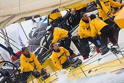 © Sander van der Borch.Alicante, 11 October 2008. Start of the Volvo Ocean Race. Team Russia.