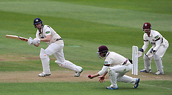 Middlesex's Adam Voges flicks the ball off the bowling of Somerset's Tim Gronewald. - Photo mandatory by-line: Harry Trump/JMP - Mobile: 07966 386802 - 27/04/15 - SPORT - CRICKET - LVCC Division One - County Championship - Somerset v Middlesex - Day 2 - The County Ground, Taunton, England.