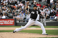 CHICAGO - MAY 01:  Sergio Santos #46 of the Chicago White Sox pitches against the Baltimore Orioles on May 01, 2011 at U.S. Cellular Field in Chicago, Illinois.  The Orioles defeated the White Sox 6-4.  (Photo by Ron Vesely)  Subject:   Sergio Santos