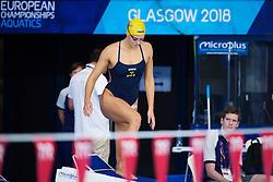 August 2, 2018 - Glasgow, UNITED KINGDOM - 180802 Sophie Hansson of Sweden at a swimming practice session during the European Championships on August 2, 2018 in Glasgow..Photo: Joel Marklund / BILDBYRN / kod JM / 87764 (Credit Image: © Joel Marklund/Bildbyran via ZUMA Press)