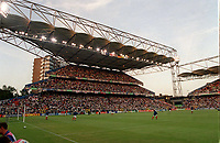 One of the stands at Charleroi that was subject of many safety concerns. England v Germany. Euro 2000. Charleroi, Belgium 17/6/00. Credit: Colorsport.