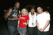 l to r: LaQuantum, Ginny Suss, SupaNova Sloam and Dan Petruzzi at The 26th Annual Martin Luther King Concert Series featuring Erykah Badu held at Wingate Field in Brooklyn, NY on August 4, 2008..The Martin Luther King Jr. Concert Series is celebrating its spectacular 26th season with a star-studded line-up of gospel, classic soul, contemporary, Caribbean and R&B artists.
