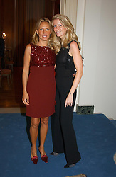 """Left to right, SARA CARRELLO and  and FRANCESCA NARDI at a party hosted by the Italian Ambassador to celebrate the forthcoming """"Made in Italy"""" event at Harrods.  The party was held at the Italian Embasy, 4 Grosvenor Square, London on 6th September 2004."""