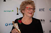 Ros Hubbard, winner of the Spotlight Casting Director Award at the IFTA Film & Drama Awards (The Irish Film & Television Academy) at the Mansion House in Dublin, Ireland, Thursday 15th February 2018. Photographer: Doreen Kennedy