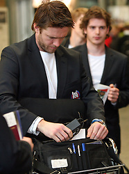 Janez Varl at departure of Slovenian national team to Hockey IIHF WC 2008 in Halifax, Canada,  on April 27, 2008 in Airport Joze Pucnik, Brnik, Slovenia.  (Photo by Vid Ponikvar / Sportal Images)