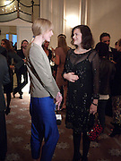 JADE PARFITT; JASMINE GUINNESS, Dinner to mark 50 years with Vogue for David Bailey, hosted by Alexandra Shulman. Claridge's. London. 11 May 2010 *** Local Caption *** -DO NOT ARCHIVE-© Copyright Photograph by Dafydd Jones. 248 Clapham Rd. London SW9 0PZ. Tel 0207 820 0771. www.dafjones.com.<br /> JADE PARFITT; JASMINE GUINNESS, Dinner to mark 50 years with Vogue for David Bailey, hosted by Alexandra Shulman. Claridge's. London. 11 May 2010