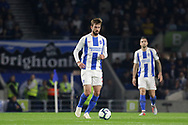 Brighton and Hove Albion midfielder Davy Propper (24) during the Premier League match between Brighton and Hove Albion and West Ham United at the American Express Community Stadium, Brighton and Hove, England on 5 October 2018.