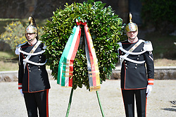 May 3, 2017 - Rome, Italy - Italian Carabinieri during visit of German President Frank-Walter Steinmeier to Fosse Ardeatine, Rome on May 03, 2017  (Credit Image: © Silvia Lore/NurPhoto via ZUMA Press)