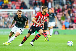 Wesley Hoedt of Southampton is marked by Jeff Hendrick of Burnley - Mandatory by-line: Ryan Hiscott/JMP - 12/08/2018 - FOOTBALL - St Mary's Stadium - Southampton, England - Southampton v Burnley - Premier League