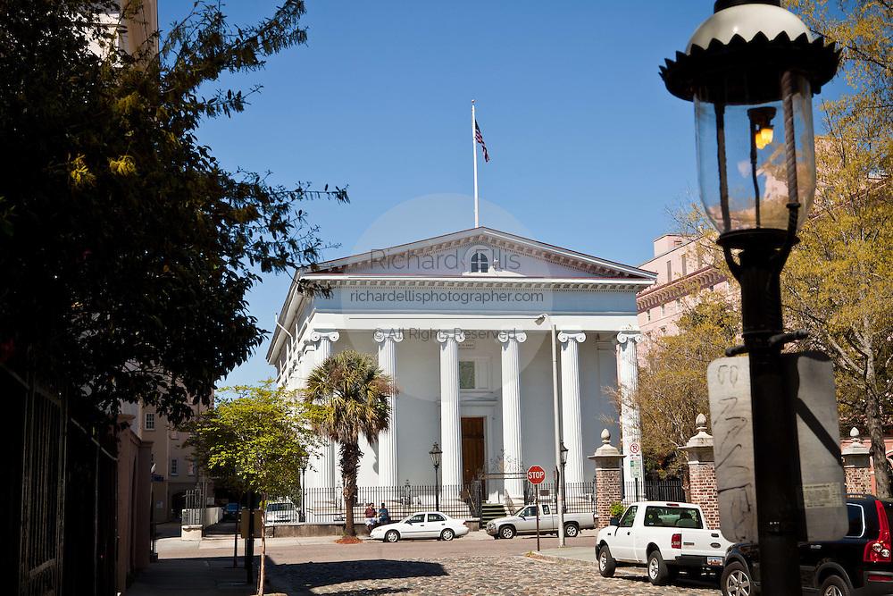 Historic Hibernian Society on Meeting Street in Charleston, SC.