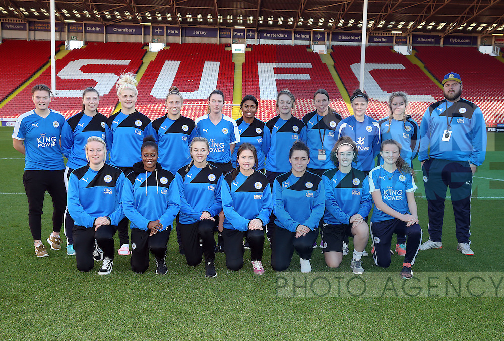 Leicester City Ladies pose for a photo prior to kick off during the FA Women's Cup First Round match at Bramall Lane Stadium, Sheffield. Picture date: December 4th, 2016. Pic Clint Hughes/Sportimage