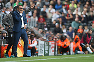 Sheffield Wednesday Manager Carlos Carvalhal looks on from the dugout. EFL Skybet championship match, Fulham v Sheffield Wednesday at Craven Cottage in London on Saturday 19th August 2017<br /> pic by Steffan Bowen, Andrew Orchard sports photography.