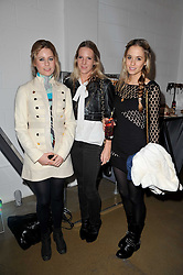 Left to right, VIOLET HENDERSON, ALICE DAWSON and FLORENCE BRUDENELL-BRUCE at a party to launch pop-up store Oxygen Boutique, 33 Duke of York Square, London SW3 on 8th February 2011.