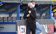 Lucien Favre mit Mundschutz during the Paderborn vs Borussia Dortmund Bundesliga match at Benteler Arena, Paderborn, Germany on 31 May 2020.