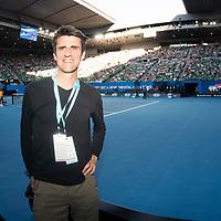 Hospitality on court on day four of the 2018 Australian Open in Melbourne Australia on Thursday January 18, 2018.<br /> (Ben Solomon/Tennis Australia)