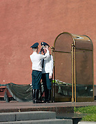 Guards outside The Kremlin, Moscow, Russia