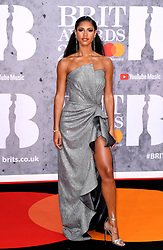 Vick Hope attending the Brit Awards 2019 at the O2 Arena, London. Photo credit should read: Doug Peters/EMPICS Entertainment. EDITORIAL USE ONLY